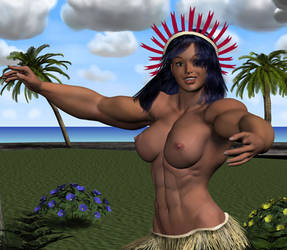 Kiribati Dance 1of3 rd headres by MuscleWomen-Planet