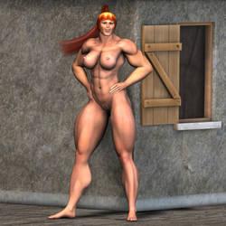 Joy's Mom's neighbor1 by MuscleWomen-Planet