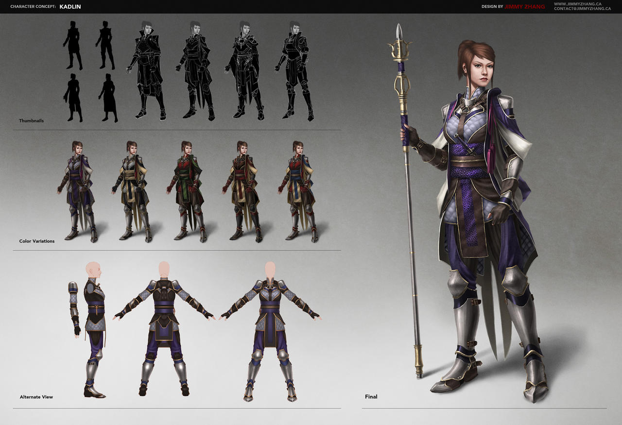 Concept Sheet: Kadlin by JimmyZhang
