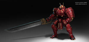 Futuristic Samurai Power-Armor Concept