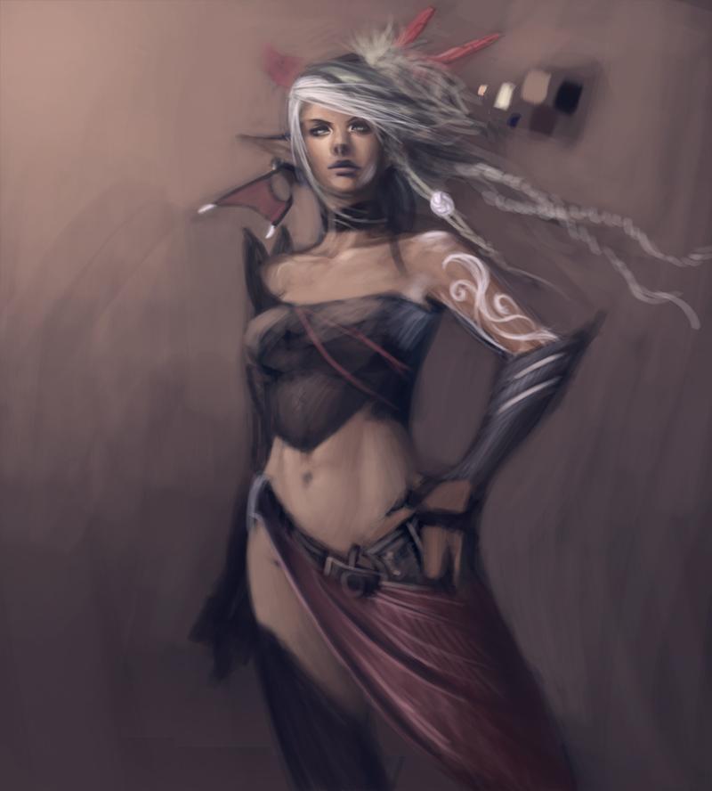 DWIV-Axelia rough sketch 1 by Zeronis
