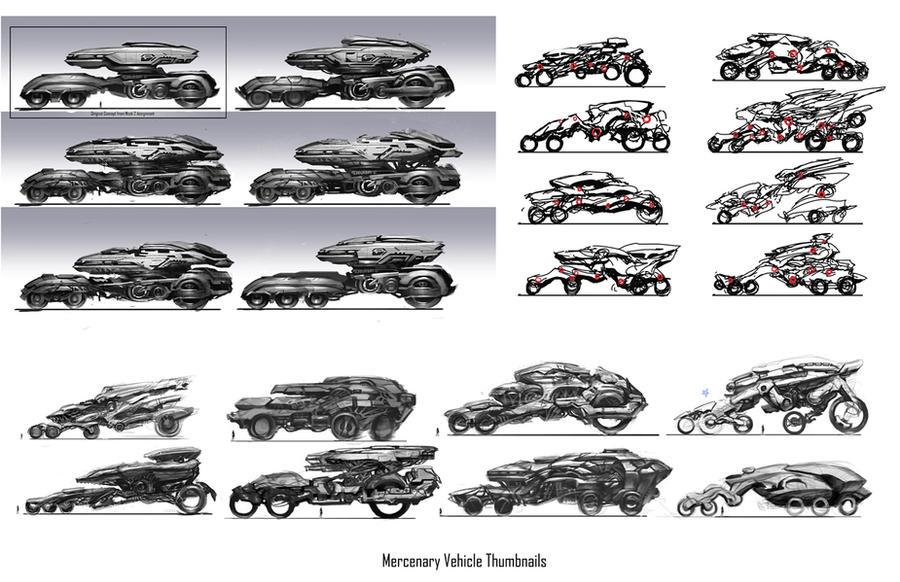 Ideation Mercenary Vehicle by Zeronis