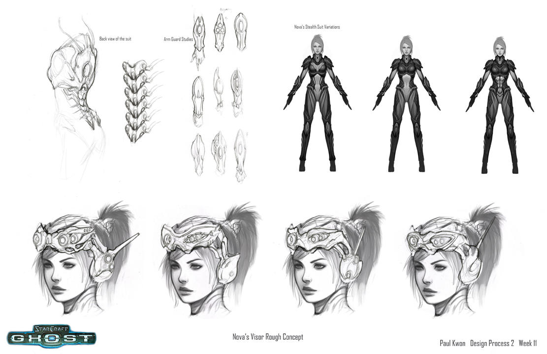 Starcraft Ghost Nova Ideation by ZeroNis