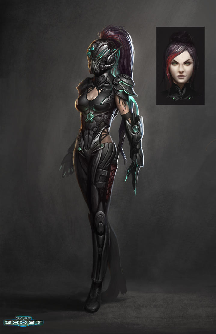 Starcraft Ghost Spectre Lady by ZeroNis