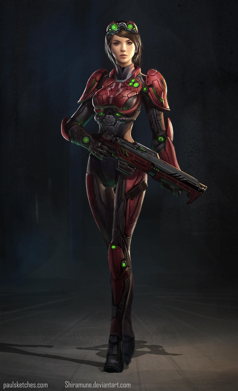 Red Tech Sci Fi by ZeroNis