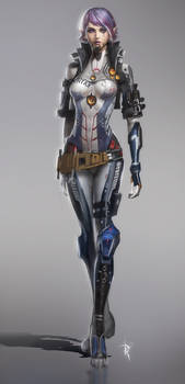 Robot Pilot Girl Concept
