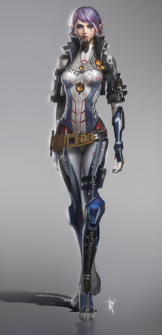 Robot Pilot Girl Concept by ZeroNis