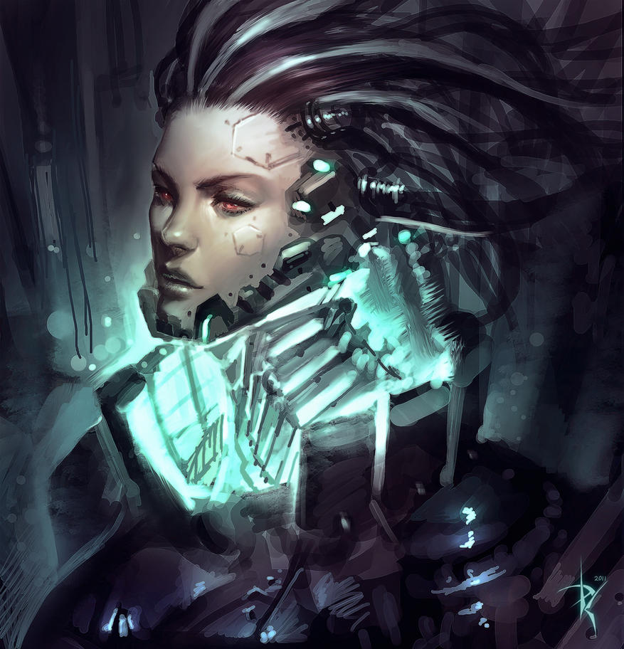 Cyborg Lady by ZeroNis