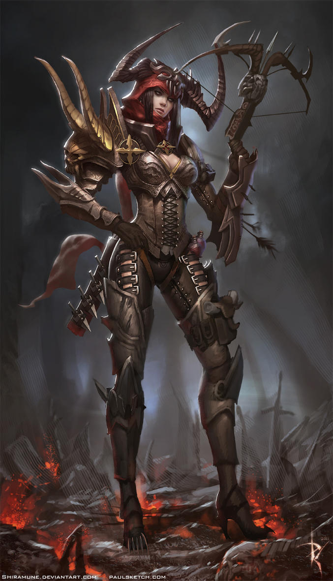 Demon Hunter Diablo 3 by ZeroNis on DeviantArt
