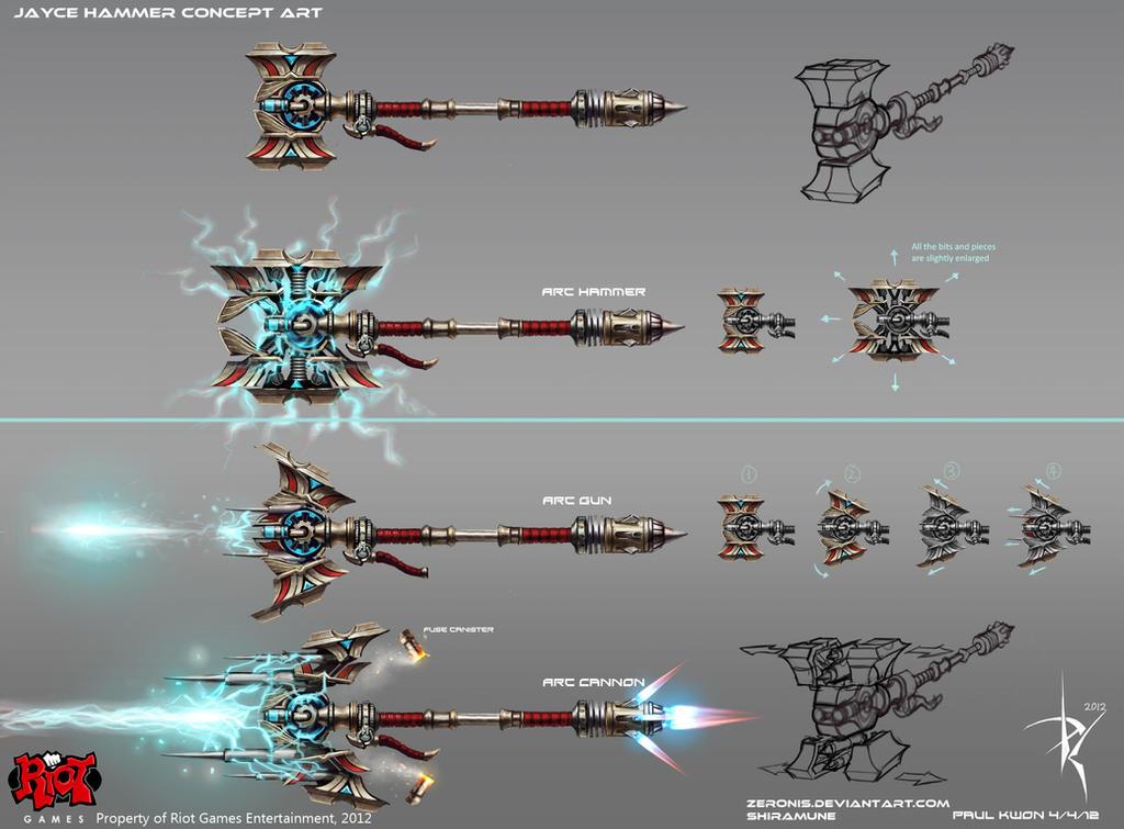 Jayce Hammer Concept Art by ZeroNis