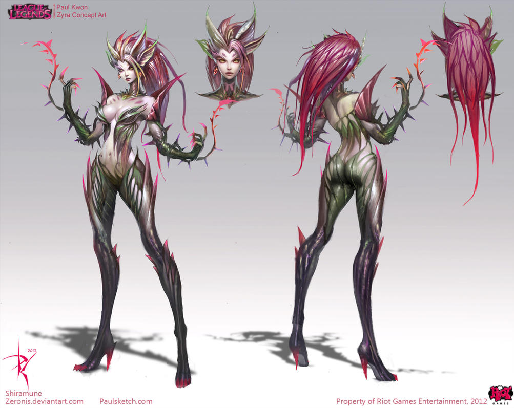 Zyra Official Concept Art by Zeronis