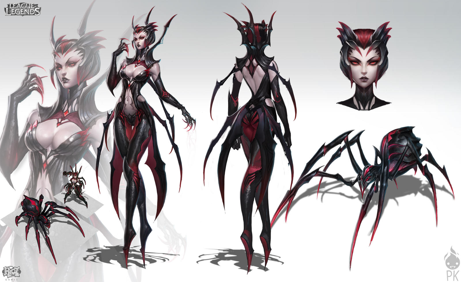 League Of Legends Character Design Contest : Elise the spider queen by zeronis on deviantart