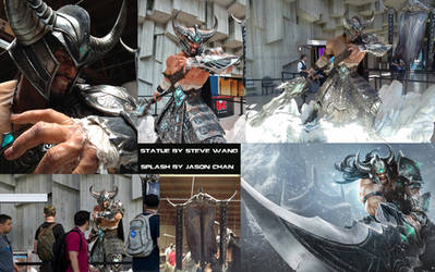 Tryndamere Statue and Splash by Zeronis