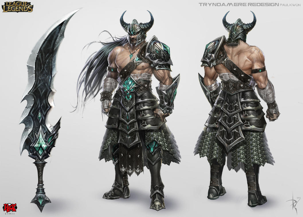 Gnomon Character Concept Design : Tryndamere concept art by zeronis on deviantart