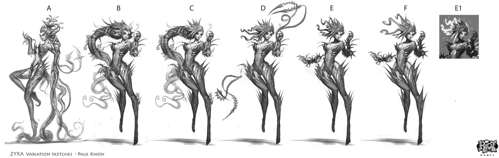 Zyra Ideation Sketches 1 by ZeroNis