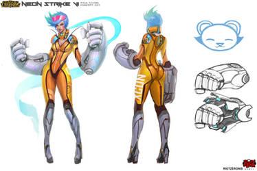 Neon Strike Vi Concept Art by Zeronis
