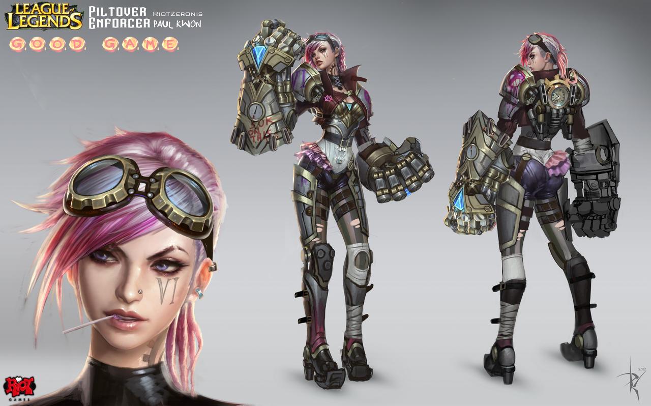 Vi Official Concept Art RiotZeronis by ZeroNis