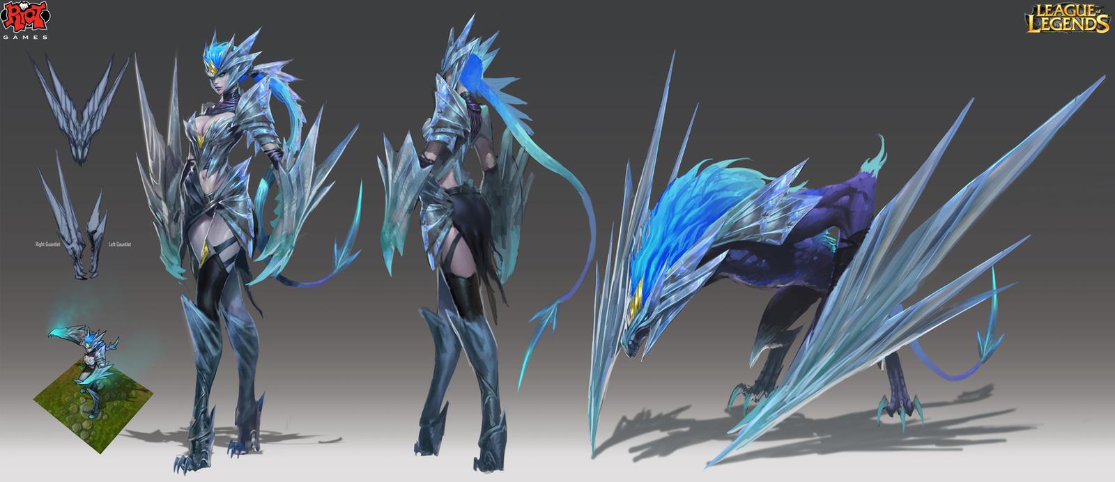 Ice Drake Shyvana RiotZeronis by ZeroNis
