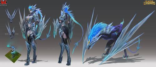 Ice Drake Shyvana RiotZeronis
