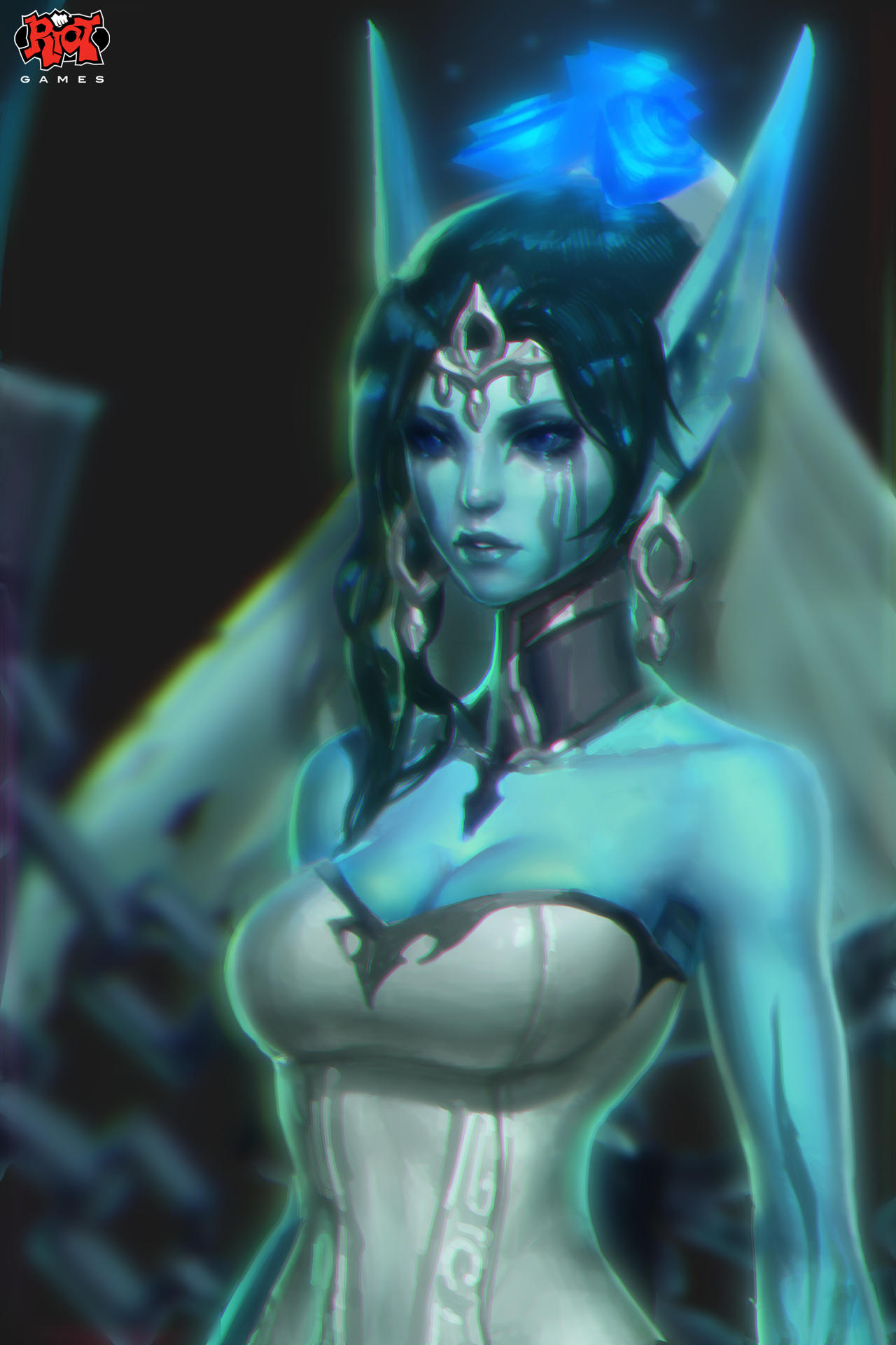 Ghost Bride Morgana Portrait RiotZeronis by ZeroNis
