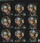 Hawken Laila Mechanic Facial Expressions