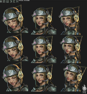 Hawken Laila Mechanic Facial Expressions