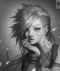 Vi Portrait Fan Art by Zeronis