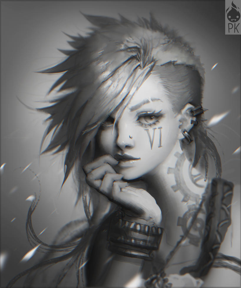 Vi Portrait Fan Art by ZeroNis