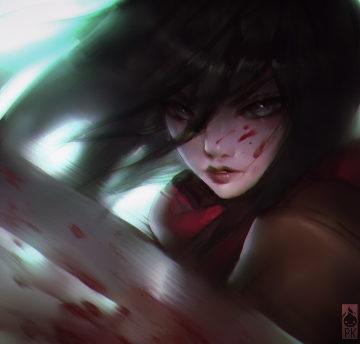 Mikasa Speed Paint by ZeroNis