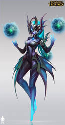 Atlantean Syndra Official Art by Zeronis