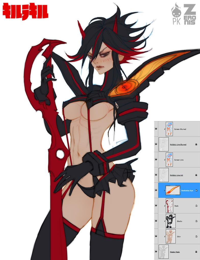Kill La Kill WIP 2 by ZeroNis