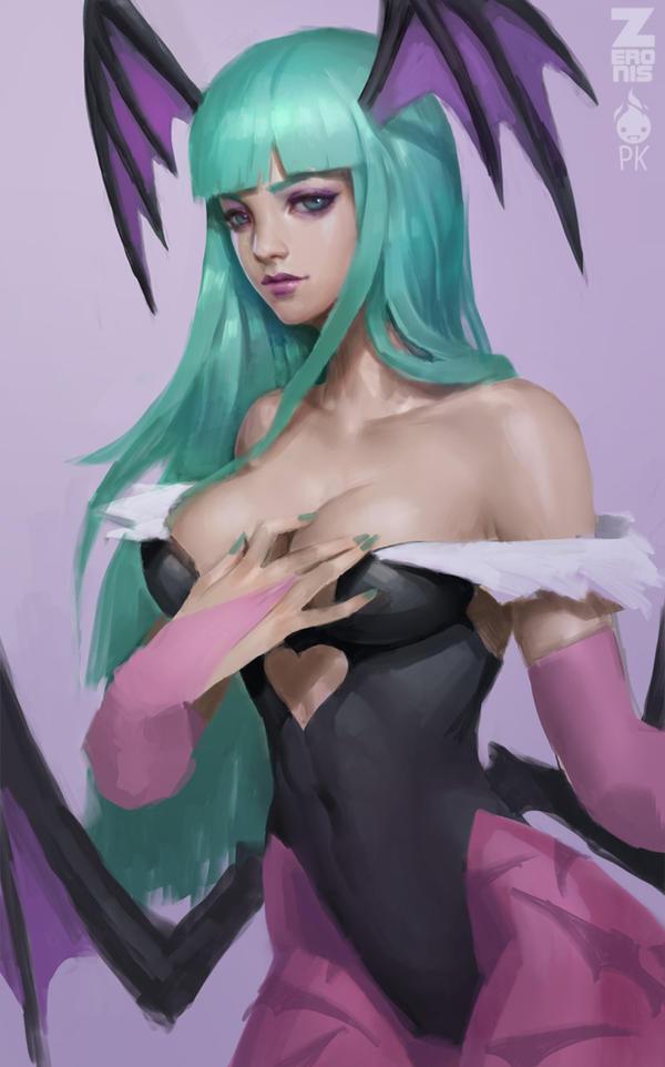 Morrigan Painting 1 by Zeronis