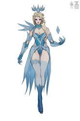 Elsa Dark Ice Queen pt.1 WIP Full by Zeronis