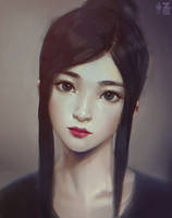 Girl Portrait Study 01 by Zeronis