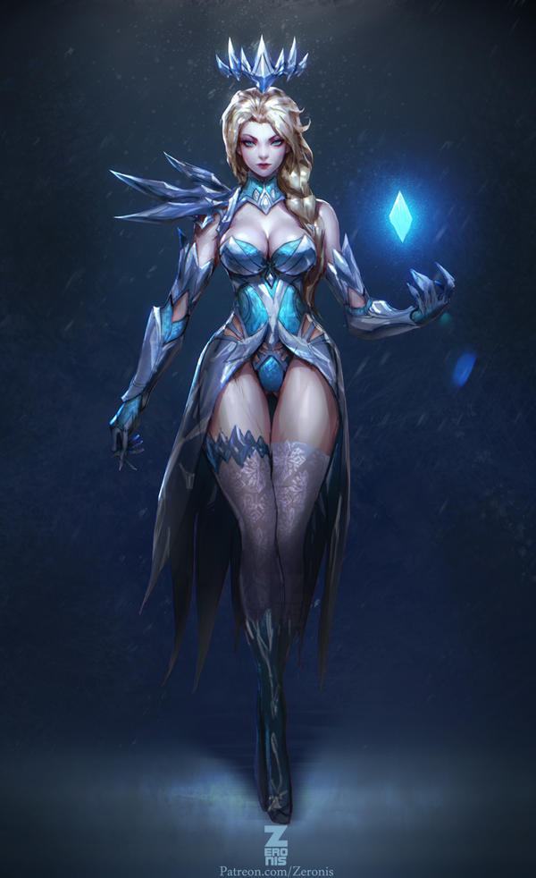 Elsa Dark Ice Queen pt.2 by ZeroNis