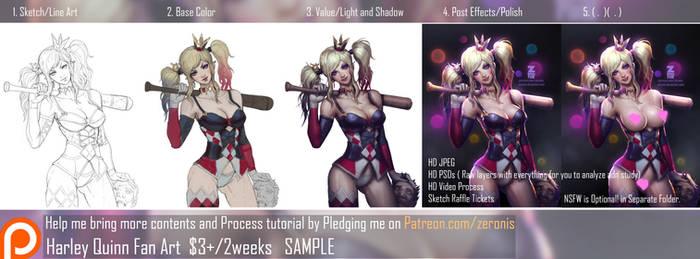 Harley Quinn Step Process Sample