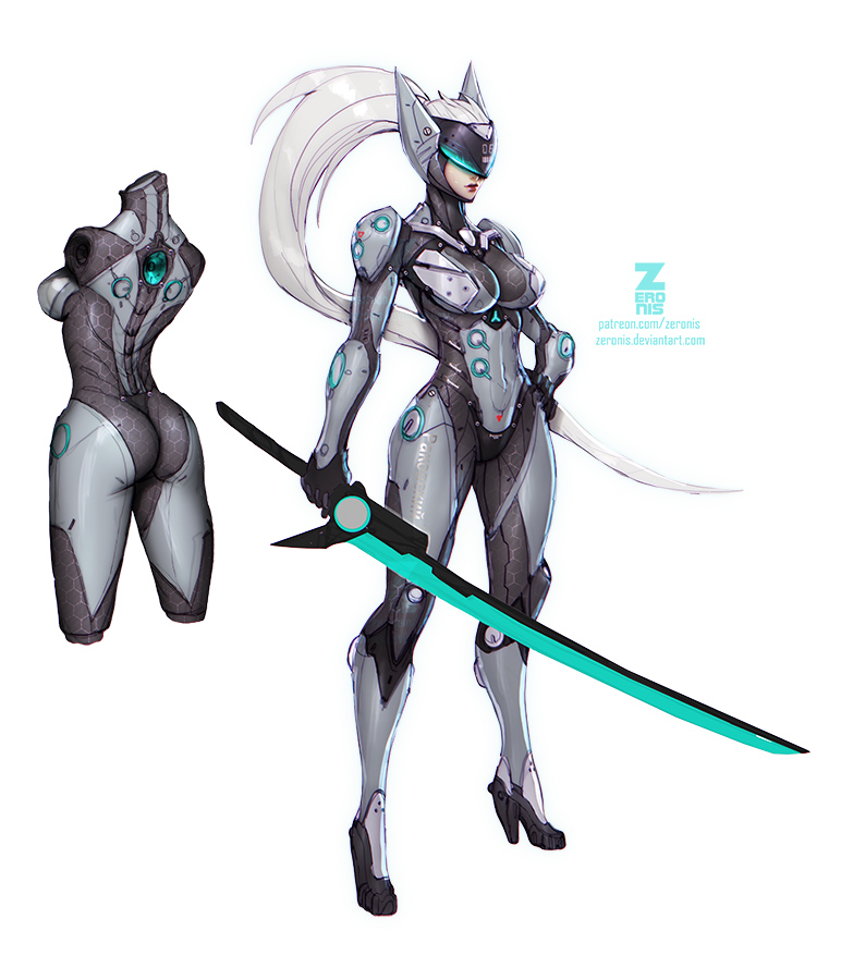 Cyborg Ninja by ZeroNis