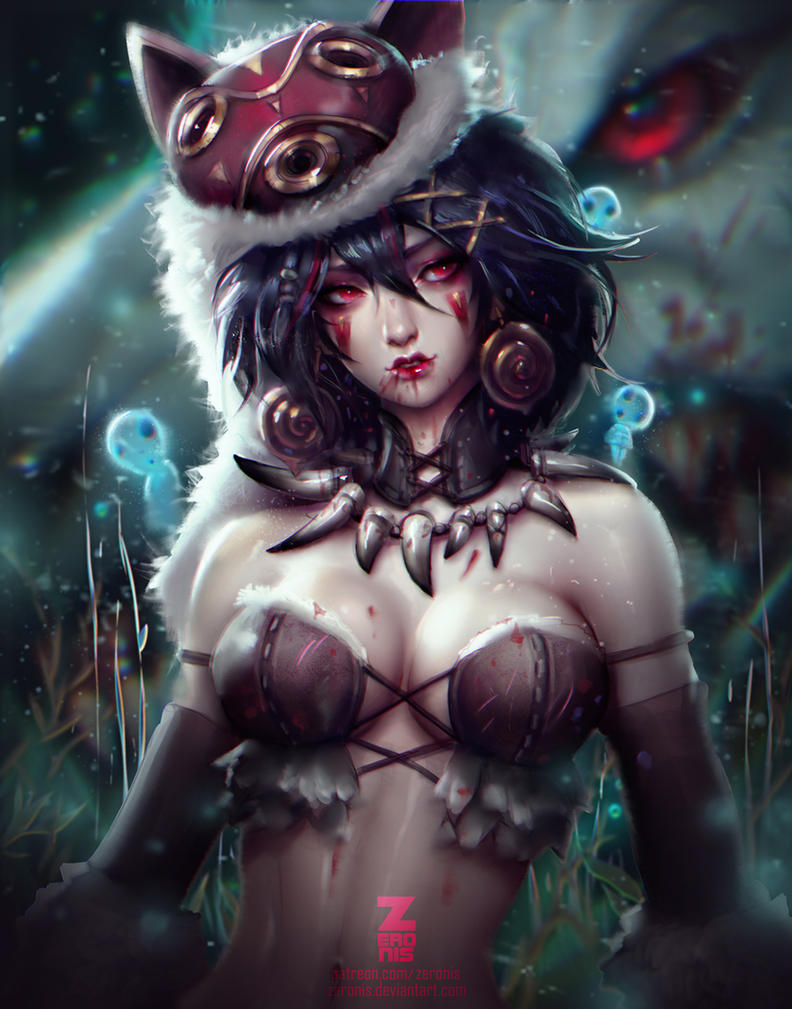 Princess Mononoke by ZeroNis