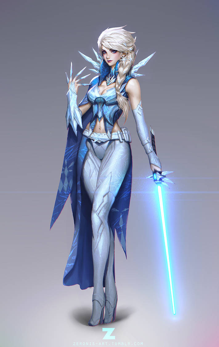 Frozen Elsa Jedi 01