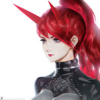 Devil Girl - Red 01  LR01 by Zeronis