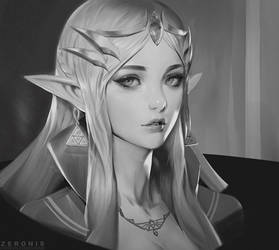 Zelda Portrait by Zeronis