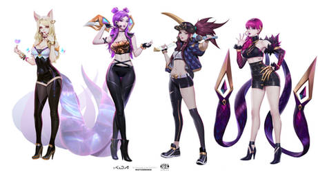KDA Lineup Concept Front Shot 01 by Zeronis