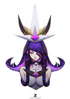 Star Guardian Syndra Front Bust 02 by Zeronis
