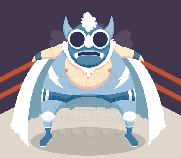 Mexican Wrestler: The Yeti by pai-thagoras