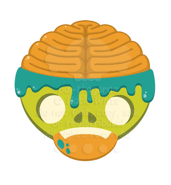 Zombie Head by pai-thagoras