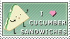 I Love Cucumber Sandwiches by pai-thagoras