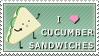 I Love Cucumber Sandwiches by pai-thagoras