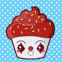 Killer Clown Cupcake by pai-thagoras