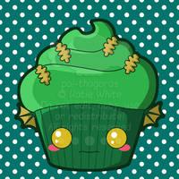 Swamp Thing Cupcake by pai-thagoras