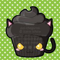 Black Cat Cupcake by pai-thagoras